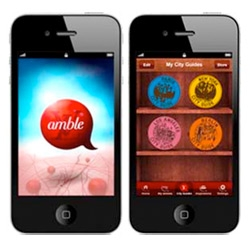 Amble iPhone Travel App by Louis Vuitton