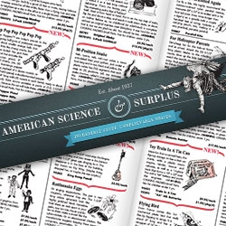 American Science & Surplus. Est about 1937. Wow. What an online store of randomness and their print/pdf catalog is pretty mind blowing as well. You can fill many a stocking with so much fun and usefulness here!