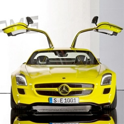 Mercedes-Benz SLS AMG E-cell Prototype ~ yes, the iconic gullwing goes electric in 2015! See the stunning details ~ interesting dash ~ and diagrams of how it's evolving.