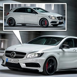 Mercedes-Benz has released the first official images with the A45 AMG ahead of Geneva debut.