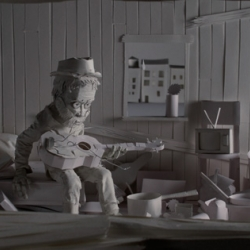 Stop-motion music video for Amos Lee that is made almost entirely out of white paper. Directed by NYC-based stop-motion studio  //kneeon.