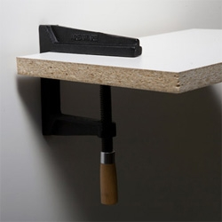 Areaware Wall Clamp by Brendan Ravenhill ~ a nice alternative to your usual shelf holders!