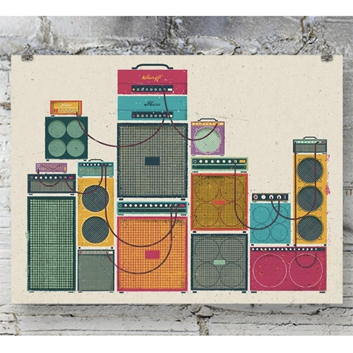 Doe Eyed Amp Stack Art Print