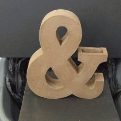 A beautiful handmade ampersand.