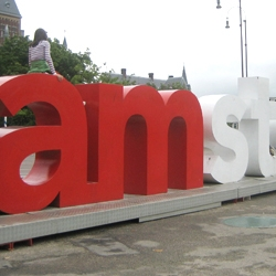These giant letters in Amsterdam are perfect for climbing and people watching. The letters spell out the motto for the city of Amsterdam. KesselsKramer created the concept...