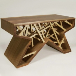some of the best furniture designs on this years New Designers show in London (this picture: Amy Jameson's Vessel Table)