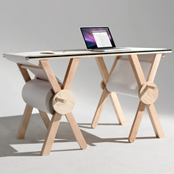 Analog Memory is a desk created by the American designer Kirsten Camara, that tries to rediscover the beauty of analog and writing on paper.