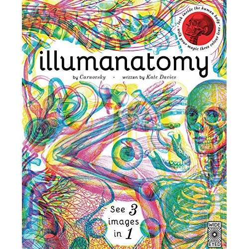 Illumanatomy - the latest from Carnovsky and Kate Davies. A stunning way to see the layers of the human body through colored glasses. The red lens reveals the skeleton, the green reveals the muscles, and the blue reveals the organs.