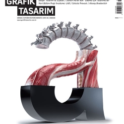 Inspiring cover of the magazine about Turkish design Grafik Tasarim