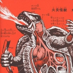 "The anatomies of Godzilla, Mothra, Gamera and other Japanese mega monsters or ""Kaiju"" in glorious vintage drawings."