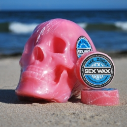 Sex Wax & Anderson Brothers Bring Sexy Back to the Contemporary Art World with- 'Sexy Skull' Life sized-limited edition skull, cast in seven different fresh flavors of surfboard wax.