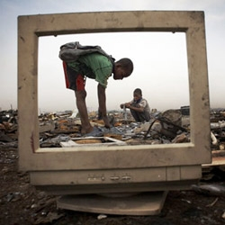 E-Waste - Amazing images by photographer Andrew McConnell of the West's dumping ground of electronic waste in the Ghana suburb of Agbogbloshie. A real eye opener.