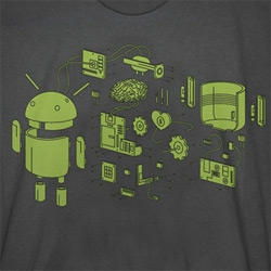 Android Andy Exploded ~ into poster and tshirt forms!