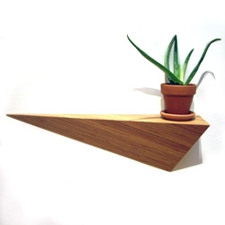 ALS Designs' Angle Shelf made from sustainable bamboo and finished in natural tung oil.
