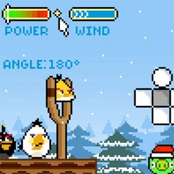 Imagine if Angry Birds was a pixelated game of the 90s... by penney design