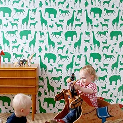 Ferm Living, Denmark has gorgeous Animal Farm Wallpaper