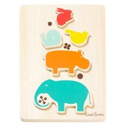 dwellstudio puzzle - wooden stacked animals