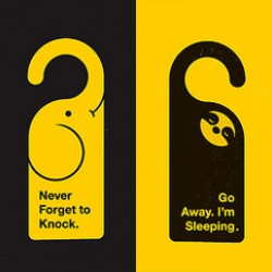 Lovely Animal Door Hangers designed by Olly Moss. Nice!