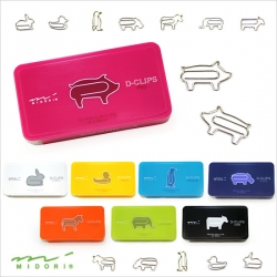 D-CLIPS are animal shaped small paper clips by MIDORI.