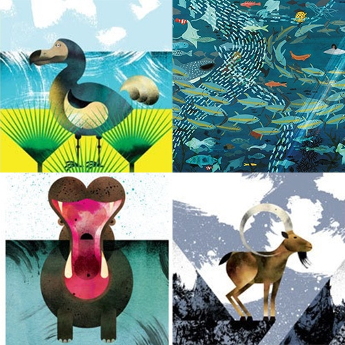 Marc Martin's lovely animal illustrations and prints.