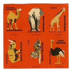 Lovely uncut retro animal matchbook covers