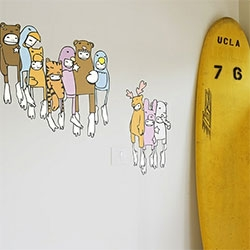 "Blik x Upper Playground ""COSTUMES"" stickers by Sam Flores ~ people in animal costumes!"