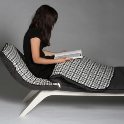 Anne Lorenz - a german designer - developed the Couch Sleeper. A nice daybed that has a built-in sleeping bag.