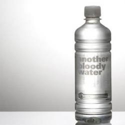 ANOTHER BLOODY WATER.  another designer water brand...but one thats aware of its ridiculousness.