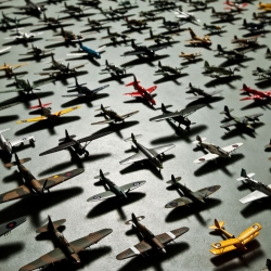 150 Model planes photographed inside the Airfix factory headquaters. Photos by Anthony Dickenson.