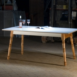 "The brandnew german label ""Antik Kombo"" took an almost 200 years old Biedermeier table and brought it to the present by adding modern/timeless design aspects."