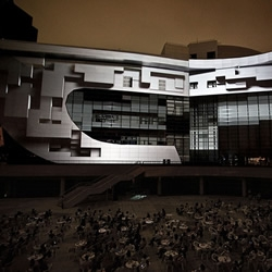 AntiVJ, a media performance group of European artists, recently took over the façade of one of a huge, recently constructed building, projecting onto it, an awe-inspiring audiovisual presentation....