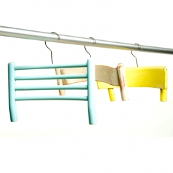 Antonello Fusè turns old chairs into coat hangers with his Abitudini collection.