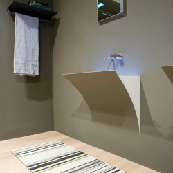 Domenico De Palo designed Strappo - a washbasin that merges with the surface where installed...