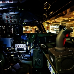 Photography story by Anthony Dickenson. Inside some of the most advanced vehicles around from armored jeeps to shipping tankers.