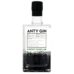 Anty Gin - from Nordic Food Lab and the world's first gin tailor, The Cambridge Distillery. Over 6000 Formica rufa have been foraged and preserved with the essence of approximately sixty-two wood ants in each bottle.