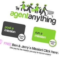 Agent Anything brings together busy, hard working people and college students and helps them set up a fair trade of resources: a bit of busy people's money for a bit of college students' time. (Only in NY/NJ)