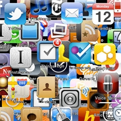 "Let's play find the apps! New ""Quiet"" iphone wall paper over at Kottke"
