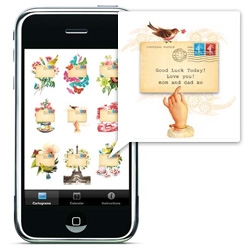 "Cartolina iPhone app ~ GORGEOUS! ""Lets you send brief but beautiful messages to your friends."""