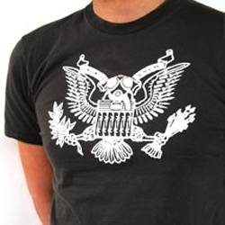 "All apparel at Departika on sale at up to 40% off, included the hit poster ""Eagle,"" now in t-shirt form."