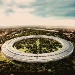 Steve Jobs announces the plans for Apple's new 'Spaceship' headquarters in Cupertino, due to be completed in 2015.