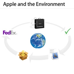 Apple's recycling program ~ one you purchase, you get an email with two codes you can use to send your old hardware via fedex to apple for recycling...