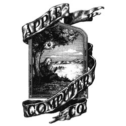The first Apple logo. Really, really vintage...