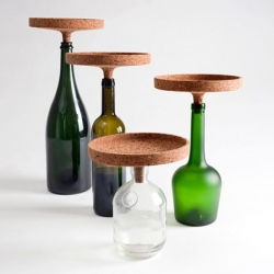 A dilated bottle cork like element transformed into a centrepiece fitting one, ten or hundreds of bottles. Design by Carlo Trevisani.