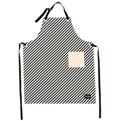 Ferm Living Black and White Striped Apron made of 100% organic cotton.