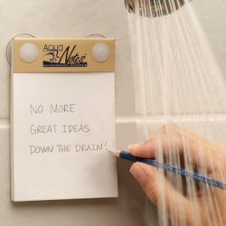 AquaNotes is a waterproof notepad designed for all the people who want to take notes in the shower.