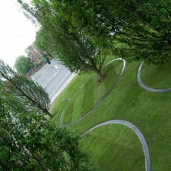 arbores leatare or happy trees, is an installation in a park; three of them rotate!! amazing