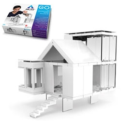 ARCKIT is a freeform model making system. The system uses interconnecting components that are completely modular and based on modern paneled building techniques.