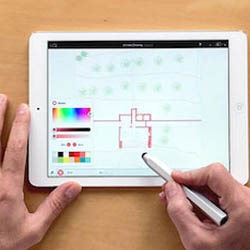 The Archisketch app takes scale into account to and scales your sketches to the real world.