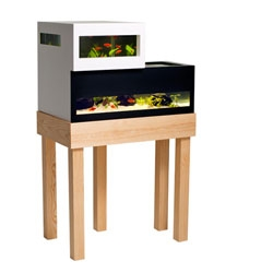 The Archiquarium, a split-level aquarium by Swedish Designer Karl-Oskar Ankarberg.