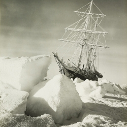 A startling image from The Heart of the Great Alone - a new exhibition exploring the Terra Nova expedition, in which the world's finest explorers attempted to reach the South Pole first - with disastrous results.